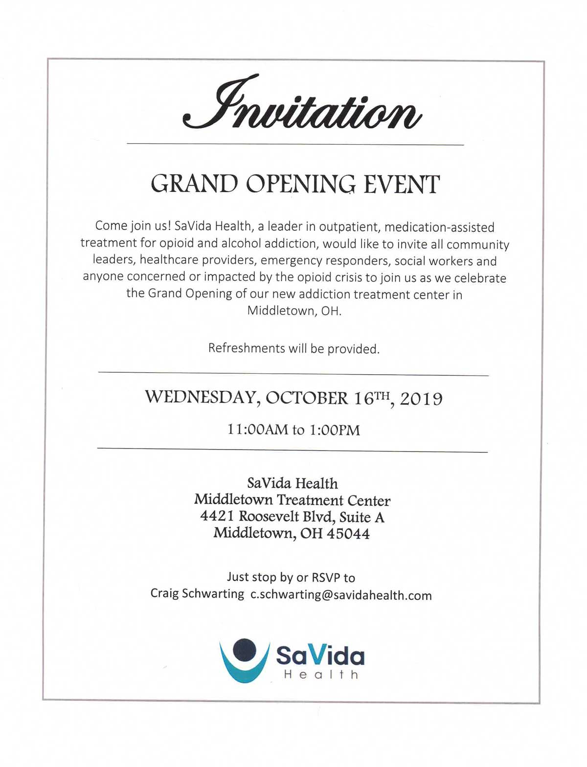 Middletown Grand Opening Invitation