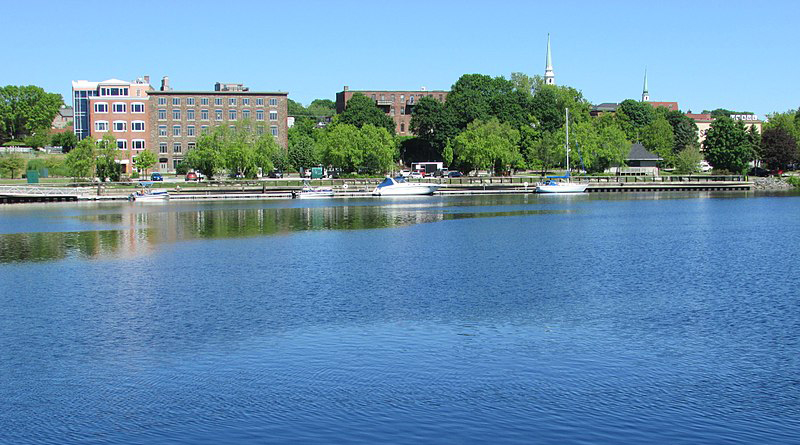 Bangor waterfront as seen from Brewer Maine image 1